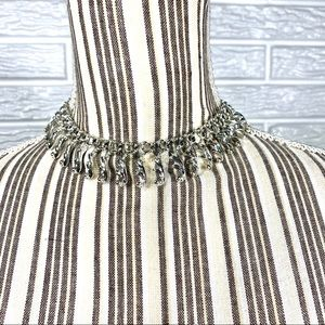 Vintage Sarah Coventry Silver Tone Choker Necklace